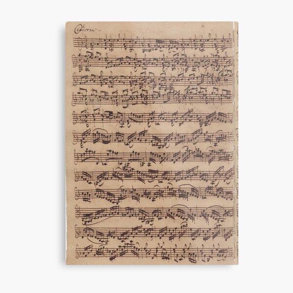 Bach Chaconne Metal Print