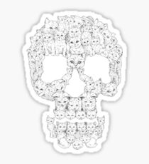 Skulls are for Pussies T-Shirt Sticker
