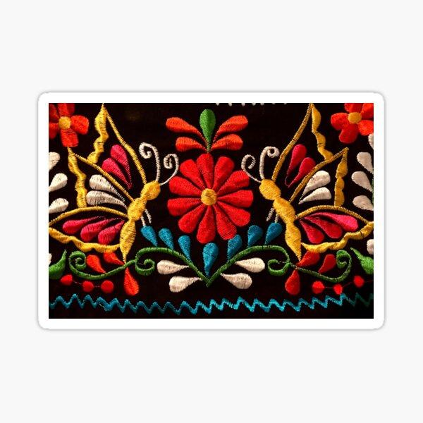 Butterflies and a Red Flower Sticker