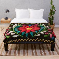 Spanish Flowers Throw Blanket