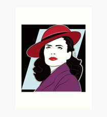 Red Hat Female Art Print
