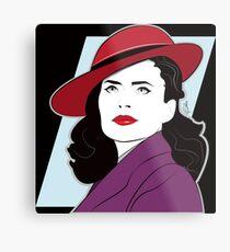 Red Hat Female Metal Print