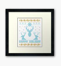 Happy Holiday Christmas Framed Print