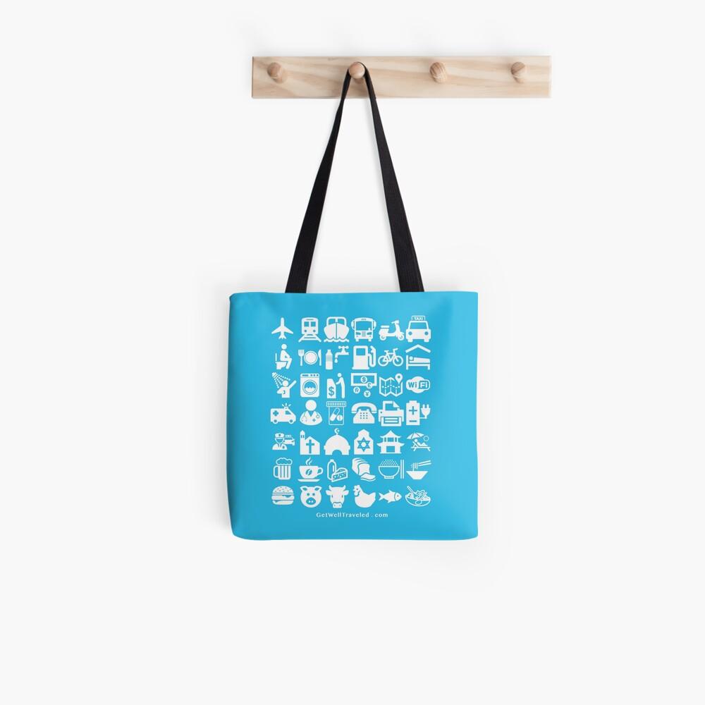 Medical Tourism Travel Icon Tote Bag