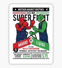 Mario vs Luigi Sticker
