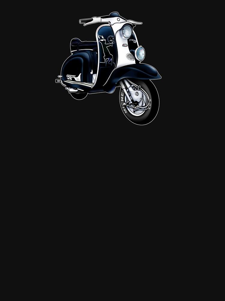 Scooter T-shirts Art: Lambretta Black Devil TV by yj8dsk57