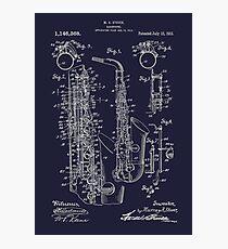 Lámina fotográfica Saxofón