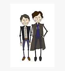 Benedict Cumberbatch's Sherlock inspired design Photographic Print