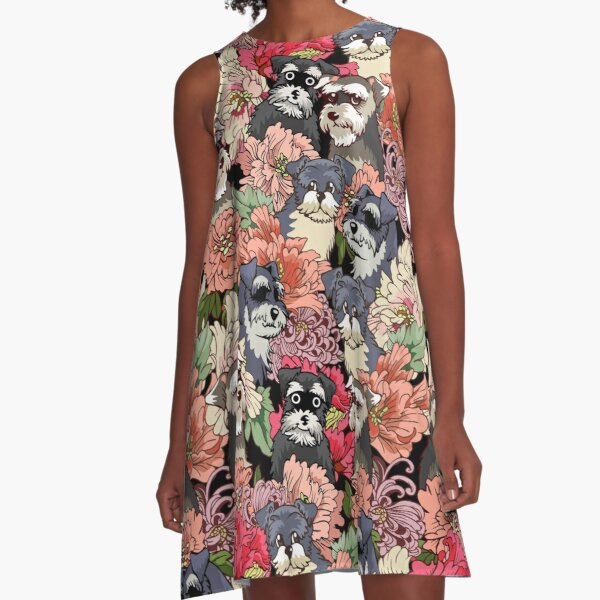 BECAUSE SCHNAUZERS A-Line Dress