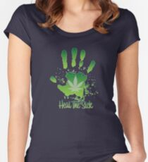Heal the Sick  Women's Fitted Scoop T-Shirt