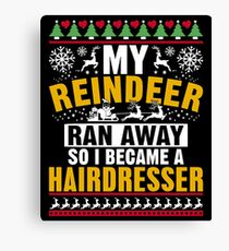 Funny Christmas Hairdresser Gift Canvas Print