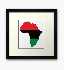 Red, Black & Green Africa Flag Framed Print