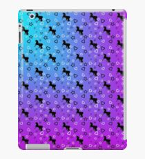 Black Unicorn Pattern (Blue & Pink) iPad Case/Skin
