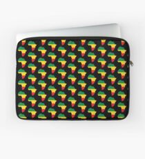 Green, Gold & Red Africa Flag Laptop Sleeve