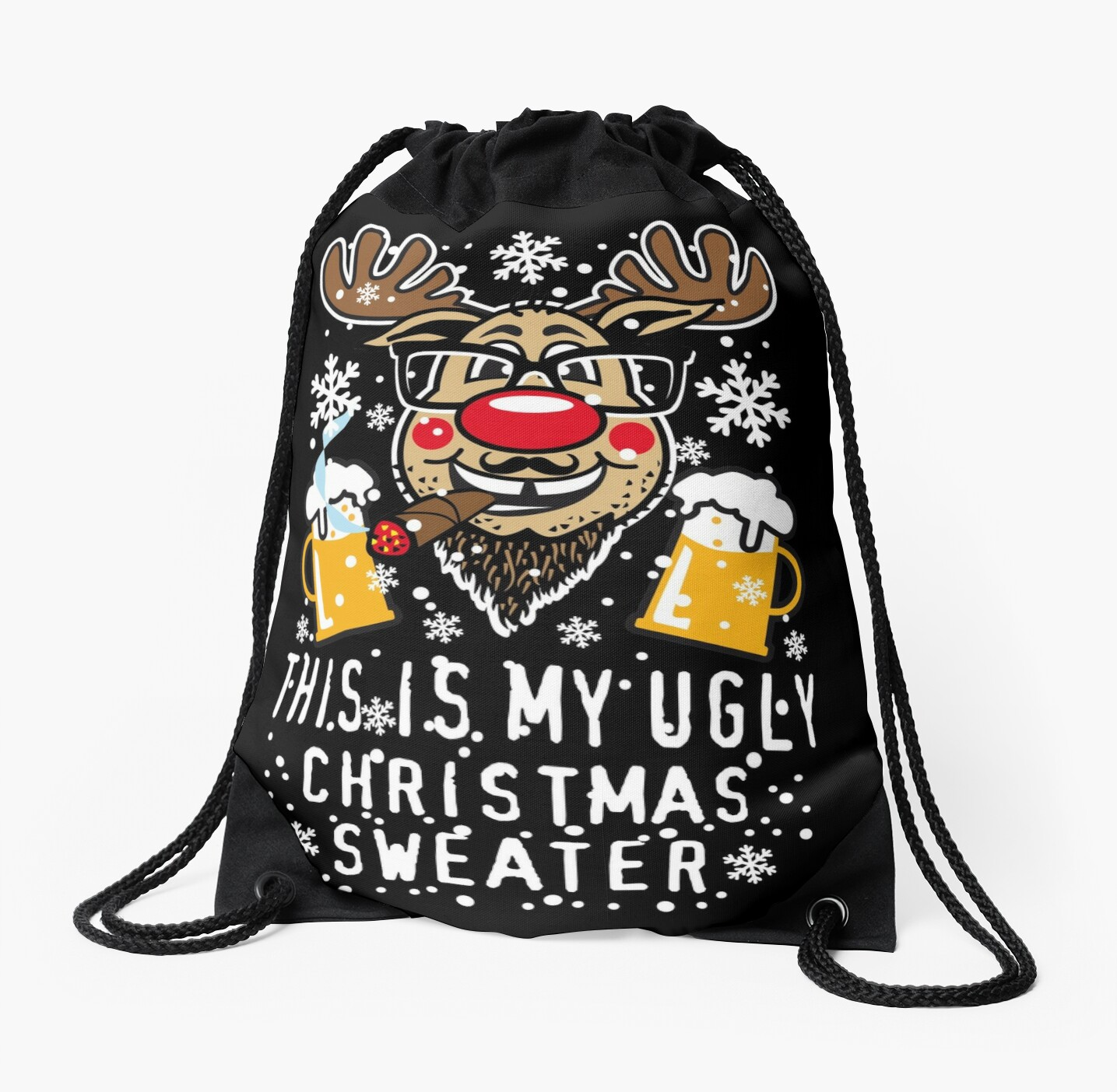 89 reindeer rudolph this is my ugly christmas sweater christmas by margarita art - My Ugly Christmas Sweater