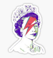 Queen Elizabeth Banksy Bowie Aladdin Sane Sticker