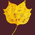 Fancy Yellow Autumn Leaf by Boriana Giormova