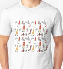 Merry Christmas decorations doodle seamless pattern  T-Shirt