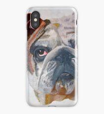 American Bulldog Portrait iPhone Case/Skin