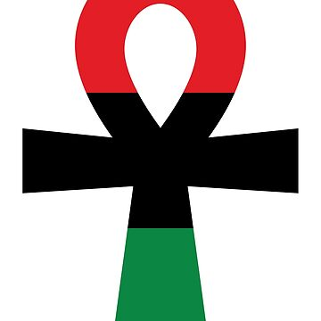Red, Black & Green Ankh by forgottentongue