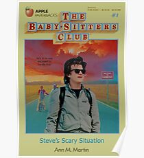 STRANGER THINGS  / BABY SITTERS CLUB MASH UP Poster