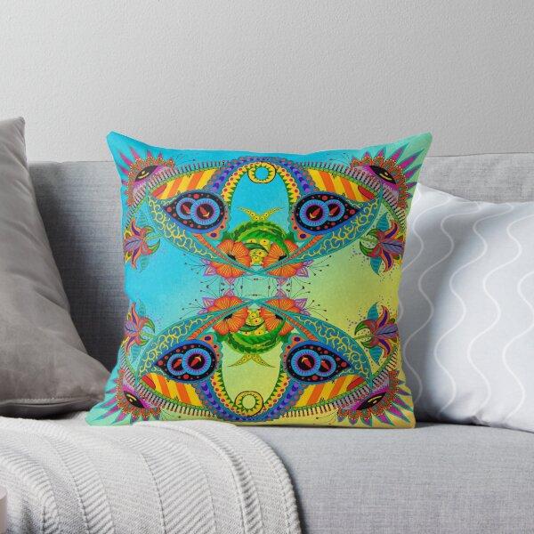 Design 51-4-2 landscape with bg Throw Pillow