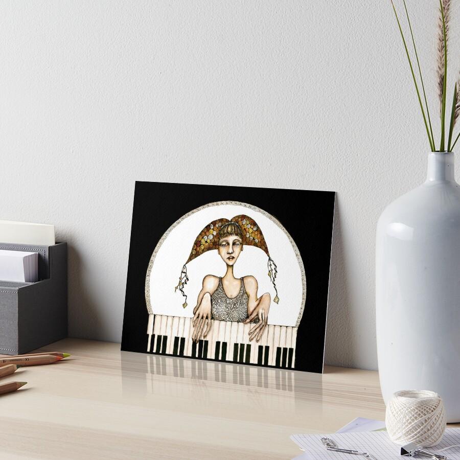 Piano practise Art Board Print