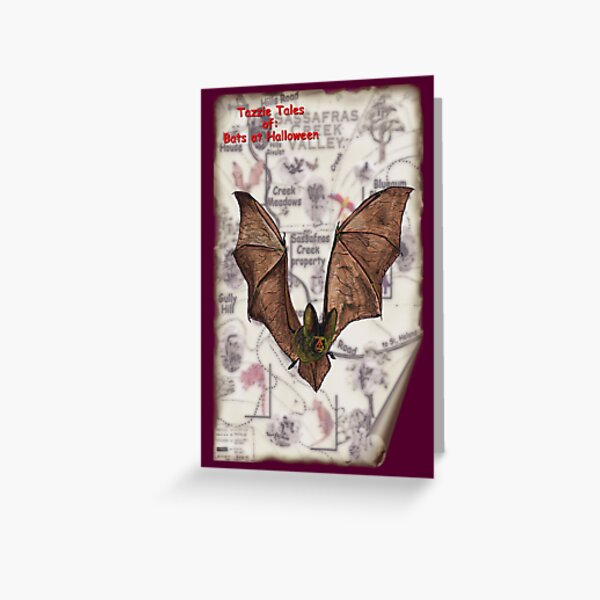ICON ~ TAZZIE TALES OF - Bats at Halloween by tasmanianartist Greeting Card