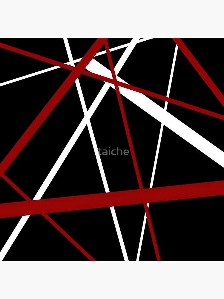 Red and White Stripes on A Black Background by taiche