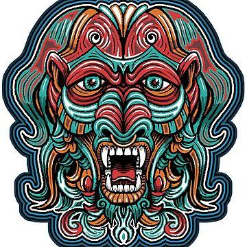 Ecorcher Aztec Baboon Space Deity by RollerBanjo