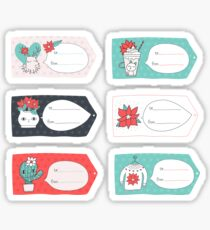 Merry Christmas gift tags Sticker