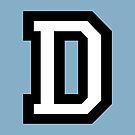 Letter D two-color von theshirtshops