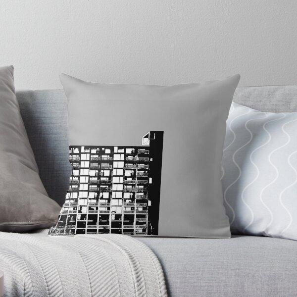 Facing the North-Grey  Throw Pillow