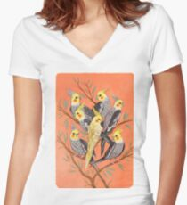 Cockatiel Fun Women's Fitted V-Neck T-Shirt