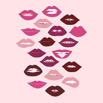 dark and nude lipstick lips by anneamanda