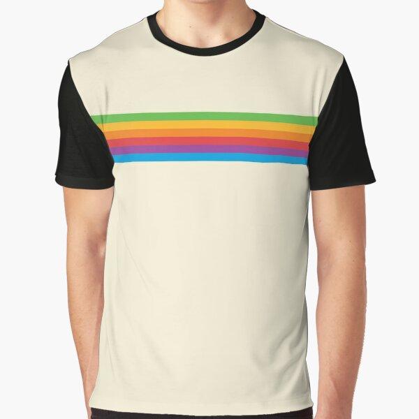 RETRO APPLE RAINBOW Graphic T-Shirt