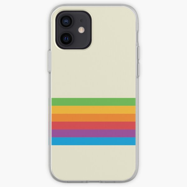 RETRO APPLE RAINBOW iPhone Soft Case