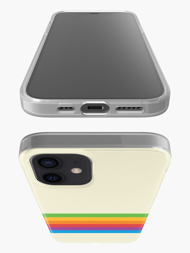 Alternate view of RETRO APPLE RAINBOW iPhone Case & Cover