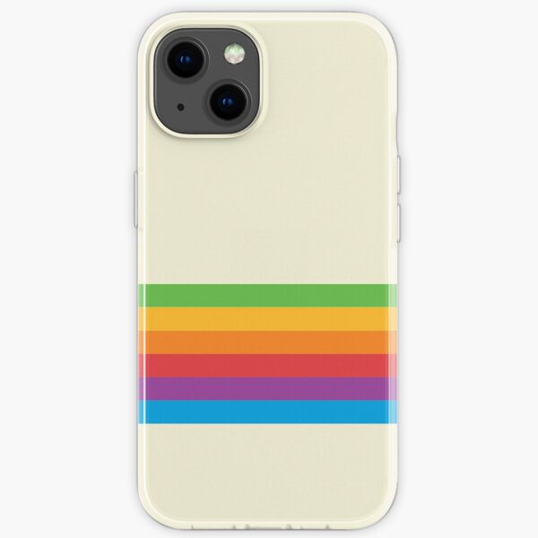 RETRO APPLE RAINBOW iPhone Soft Case
