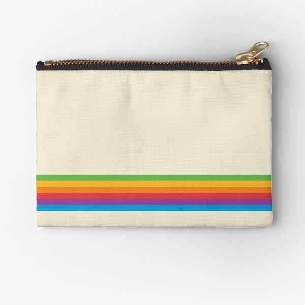 RETRO APPLE RAINBOW Zipper Pouch