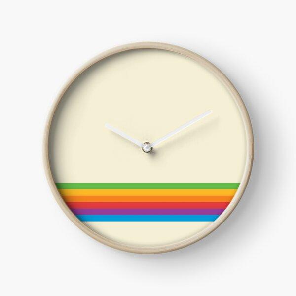 RETRO APPLE RAINBOW Clock
