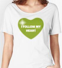 I Follow My Heart (Green) Women's Relaxed Fit T-Shirt