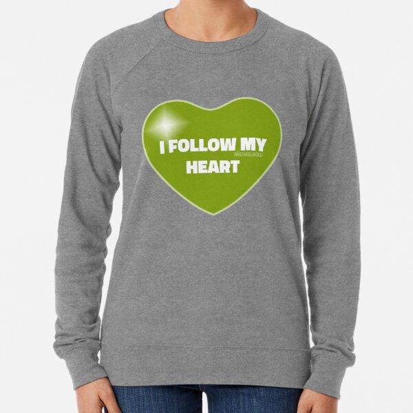 I Follow My Heart (Green) Lightweight Sweatshirt
