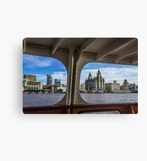 Liverpool waterfront from the Mersey Ferry Canvas Print