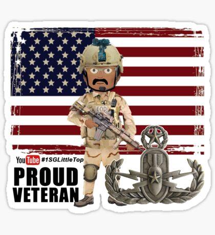 EOD Proud Veteran Sticker