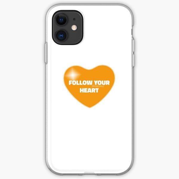 Follow Your Heart (Orange) iPhone Soft Case
