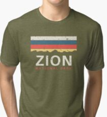 Zion National Park Utah Souvenir UT Gifts Tri-blend T-Shirt