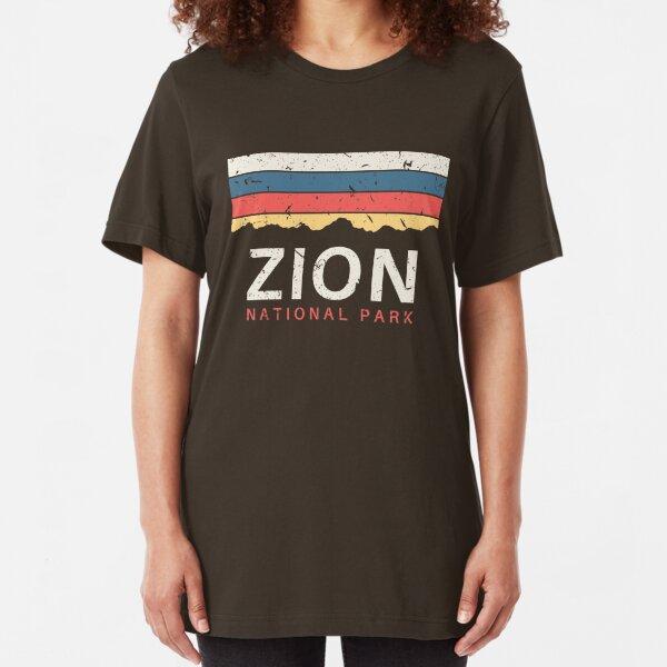 Zion National Park Utah Souvenir UT Gifts Slim Fit T-Shirt