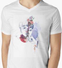 CELLULAR DIVISION by elena garnu Men's V-Neck T-Shirt