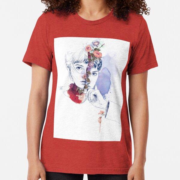 CELLULAR DIVISION by elena garnu Tri-blend T-Shirt